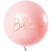 Ballon Elegant Roze XL - 80cm