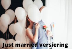 just married versiering