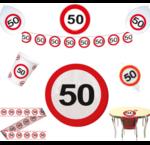 50 jaar verkeersbord versiering