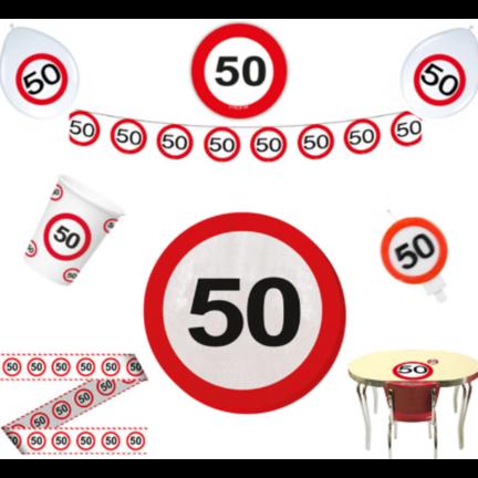 Goedkope verkeersbord versiering 50 jaar