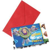 Toy Story uitnodigingen - 6 stuks