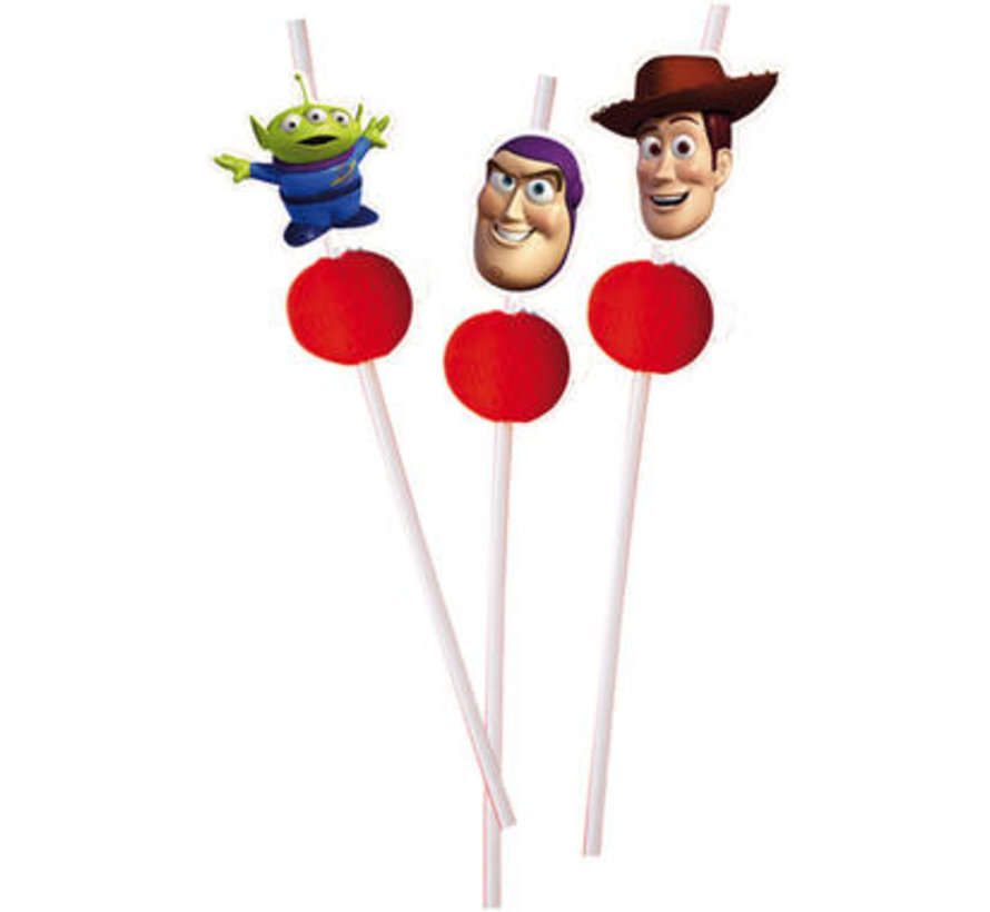 Toy Story rietjes - 6 stuks