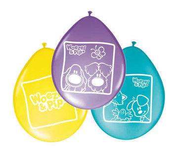 Woezel en Pip Ballonnen 30cm - 8 stuks