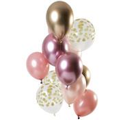 Ballonnen Golden Blush 30cm - 12 stuks