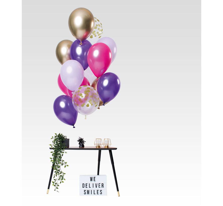 Ballonnen Purple Posh 30cm - 12 stuks