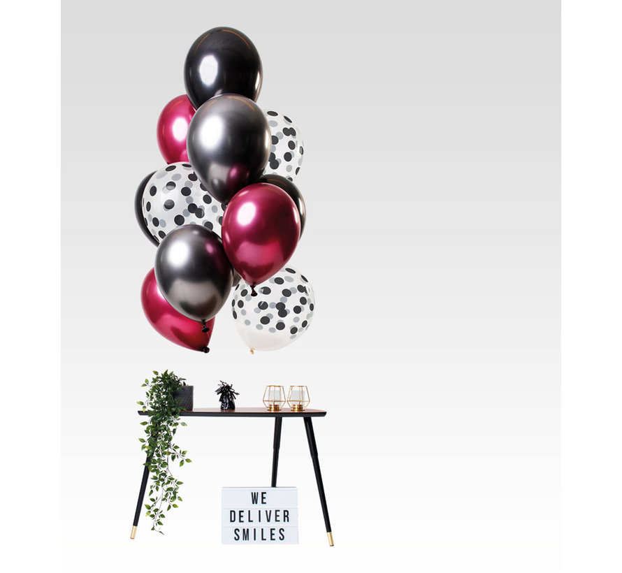 Ballonnen Dark Richness 30cm - 12 stuks