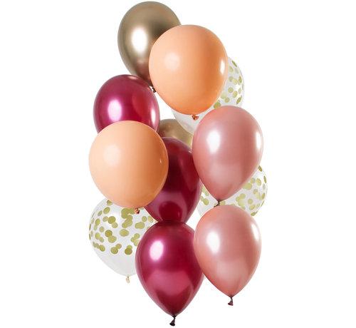 Ballonnen Rich Ruby 30cm - 12 stuks
