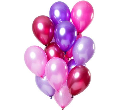 Ballonnen Merry Berry Pink Metallic 30cm - 15 stuks