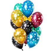 Ballonnen Sterren Metallic 30cm - 12 stuks