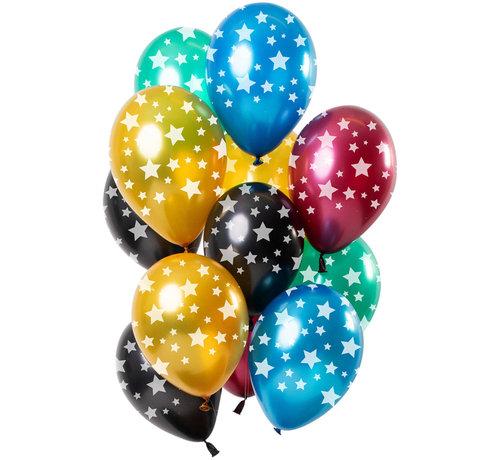 Ballonnen Stars Metallic 30cm - 12 stuks