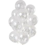 Ballonnen Origami Happy Birthday - 12 stuks