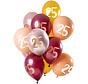 Ballonnen Set 25 Jaar Roze/Goud 30cm  - 12 stuks