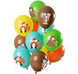 Ballonnen Bosdieren Multicolors 30cm - 12 stuks