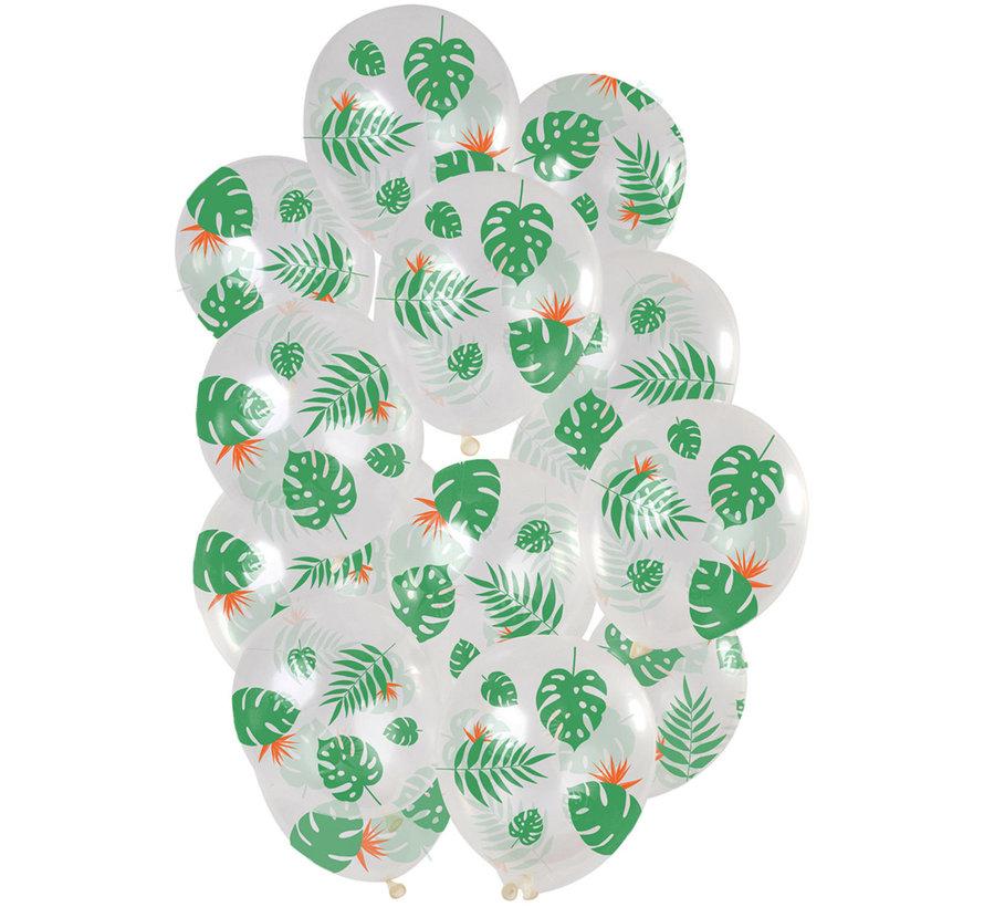 Ballonnen Tropical Leaves 30cm - 15 stuks