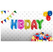 Folieballonnen Set HBDAY