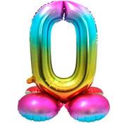 Folieballon Met Standaard Cijfer 0 - 81 cm