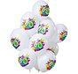 Ballonnen Color Splash 60 Jaar - 12 stuks