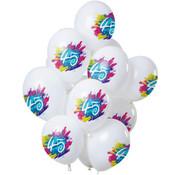 Ballonnen Color Splash 45 Jaar - 12 stuks