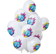 Ballonnen Color Splash 35 Jaar - 12 stuks