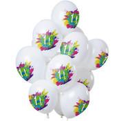Ballonnen Color Splash 11 Jaar - 12 stuks