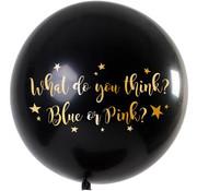 Ballon Gender Reveal Jongen Metallic - 90 cm