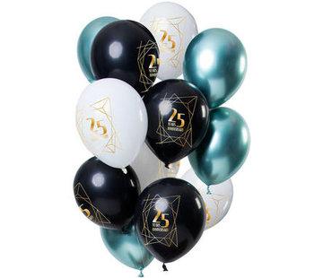 Ballonnen Jubileum 25 Jaar - 12 stuks