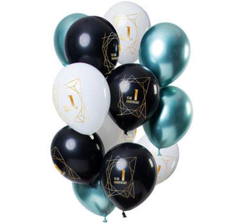 Ballonnen Jubileum 1 Jaar - 12 stuks