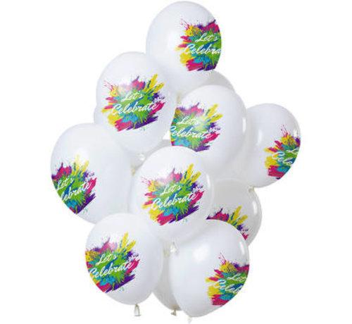 Ballonnen Color Splash Let's Celebrate - 12 stuks