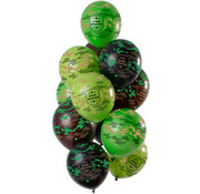 Ballonnen Happy Birthday Camouflage - 12 stuks