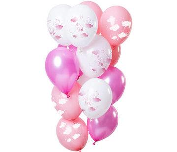 Ballonnen It's A Girl! - 12 stuks