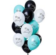 Ballonnen Hip Hip Hooray Meerkleurig - 12 stuks