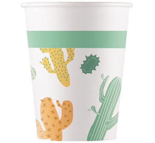Bekers Papier Composteerbaar Cactus - 8 stuks