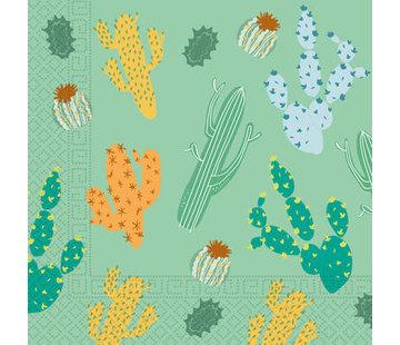 Servetten Papier Composteerbaar Cactus - 20 stuks