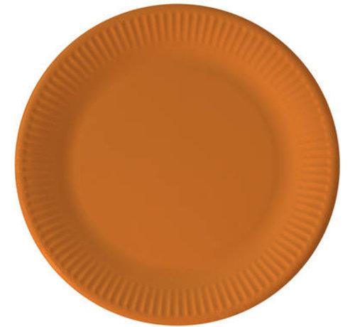 Borden Papier Composteerbaar Oranje - 8 stuks