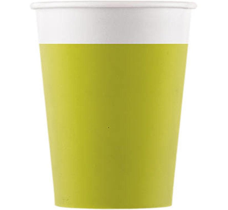 Bekers Papier Composteerbaar Groen - 8 stuks