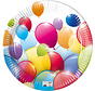 Borden papier Composteerbaar Ballonnen - 8 stuks