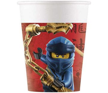 Bekers Papier Composteerbaar Lego Ninjago - 8 stuks