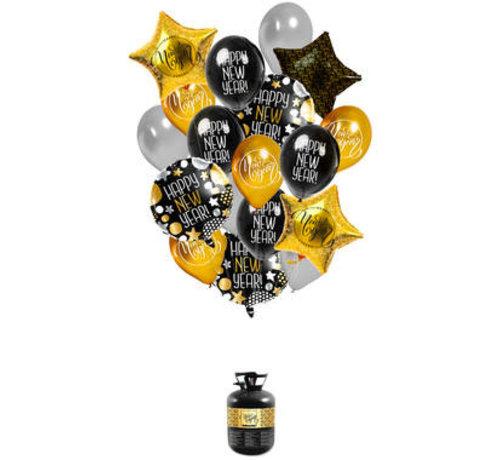 Helium tank  'Happy New Year' met Ballonnen en Lint