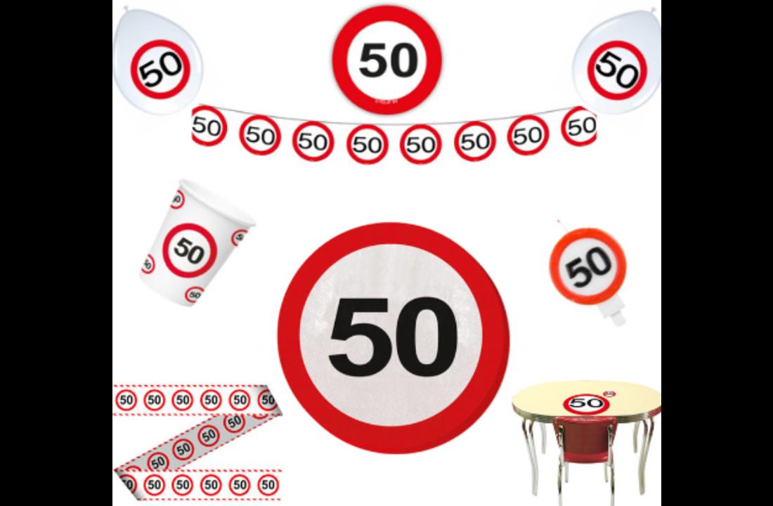 Sarah verkeersbord 50 jaar