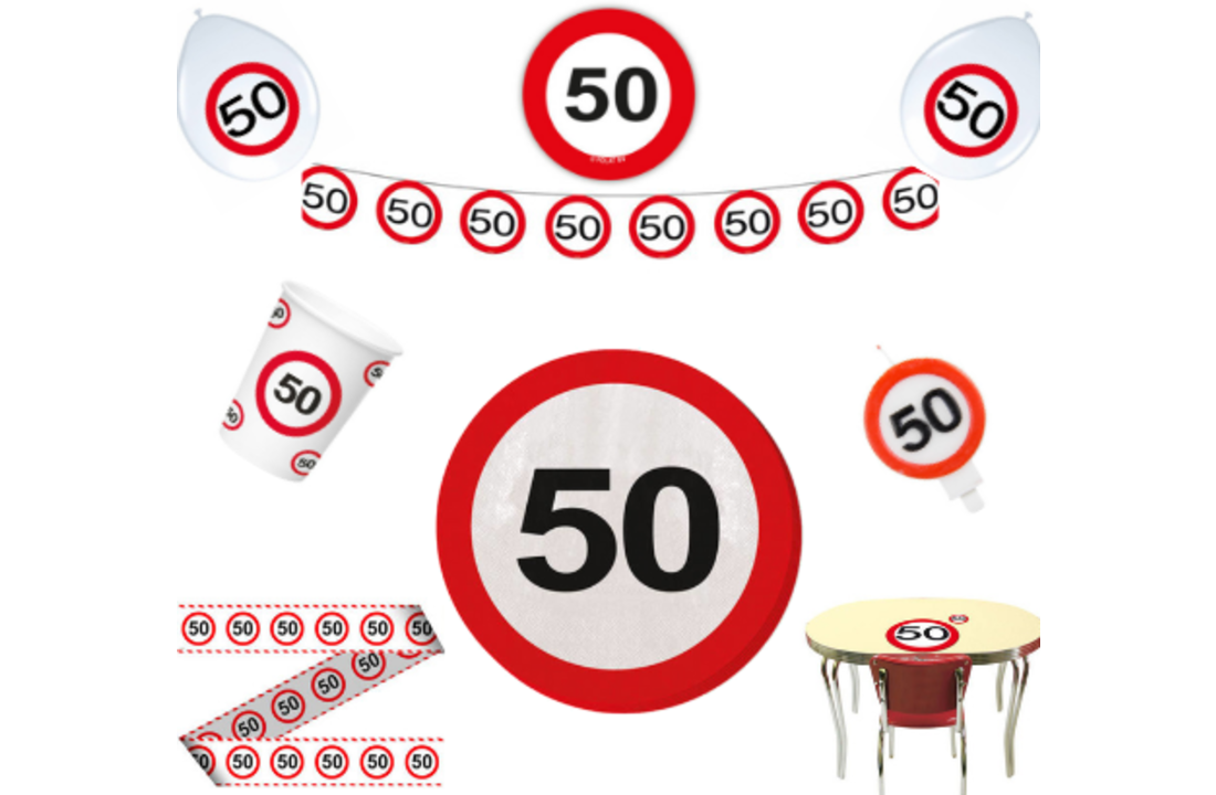 Abraham verkeersbord 50 jaar