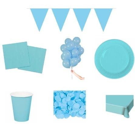 Baby blauwe feestpakketten