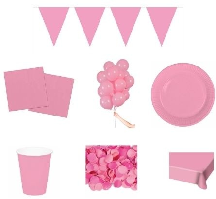Baby roze feestpakketten