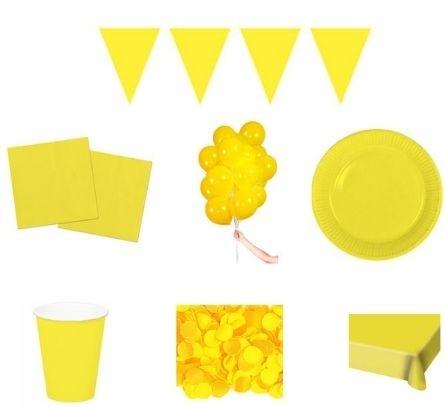 Gele feestpakketten