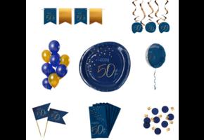 Blauwe feestpakketten
