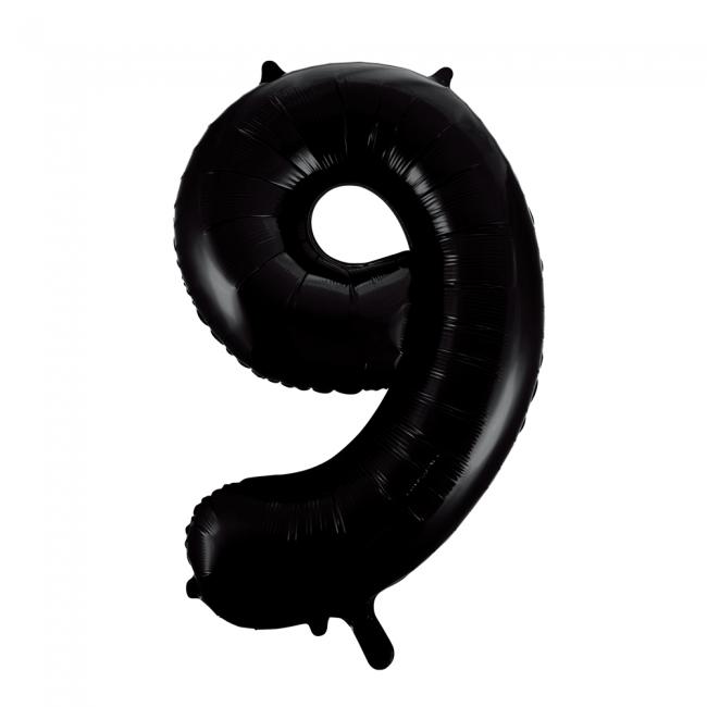 Cijferballonnen zwart