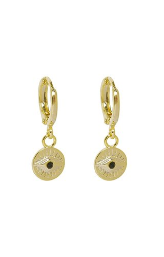 MINOMI EARRINGS CURIOUS EYES GOLD