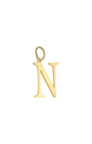 MINOMI Charm Initial Gold A TM Z