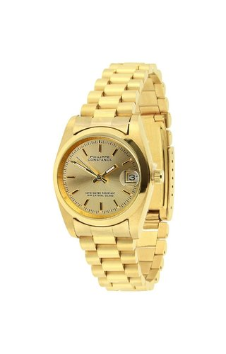"""PRE ORDER PHILIPPE CONSTANCE """"MEDIUM GOLD"""" PLAIN GOLD NO NUMBERS"""