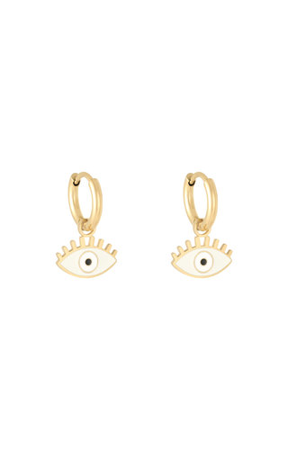 MINOMI Earrings Pastel Eyes White