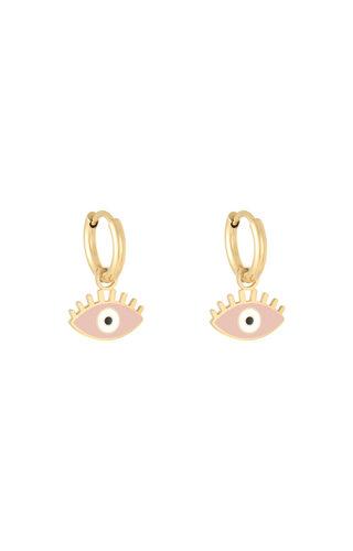 MINOMI Earrings Pastel Eyes Pink